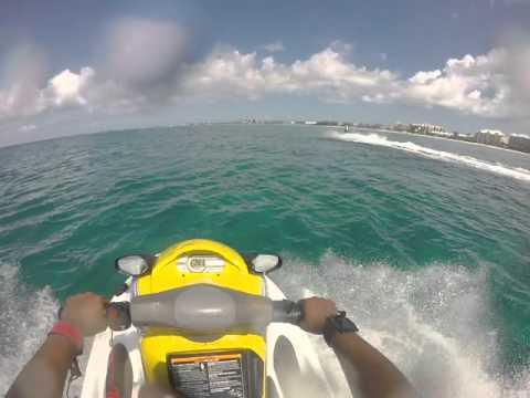 Jet ski Snorkeling Cayman Island Part 1 2015