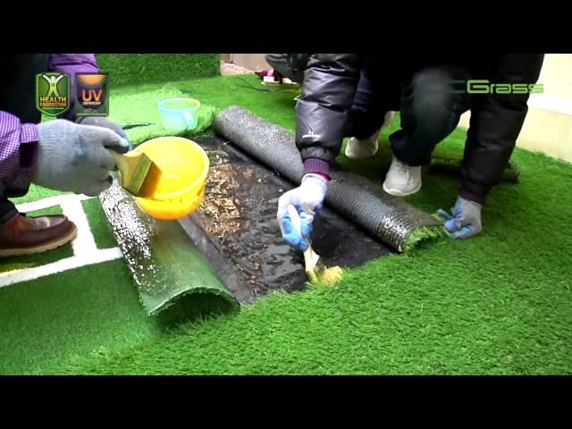 كيف نركب العشب الصناعي للحدائق Youtube