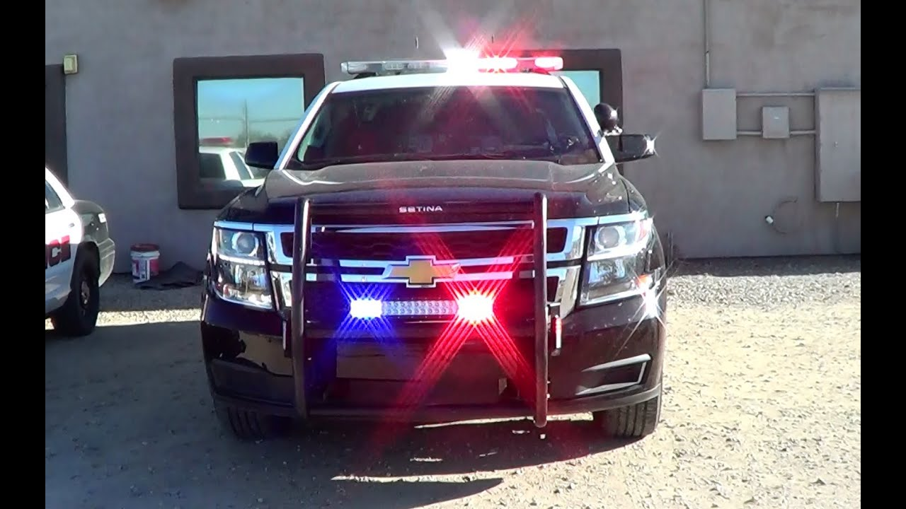 Willcox Police Dept. new Chevy Tahoe cruiser lights setup ...
