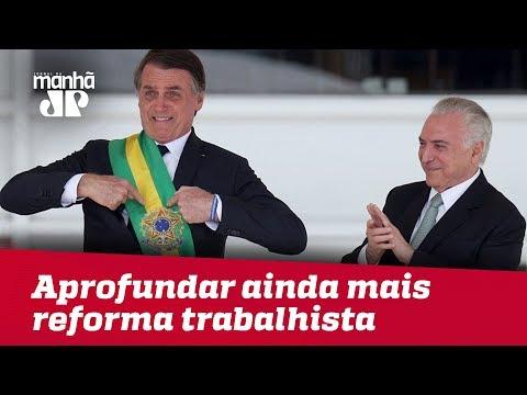 Governo Bolsonaro pretende aprofundar ainda mais reforma trabalhista