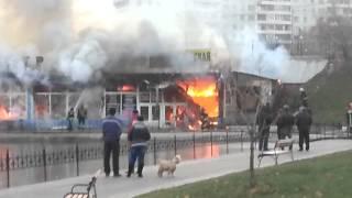 Пожар в ТЦ Каспий