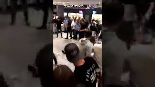 Драки фанатов после боя Конор МакГрегор против Хабиба Нурмагомедова