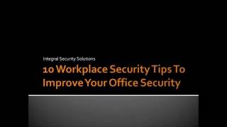 Security tips for the workplace