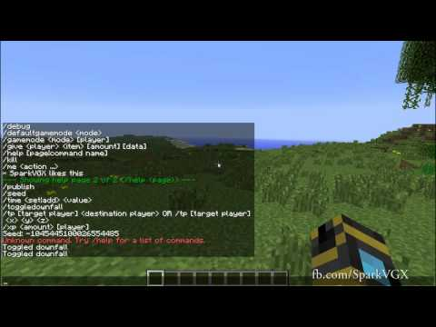 Minecraft 1.3 Primer E4: Single Player Cheats And Chat