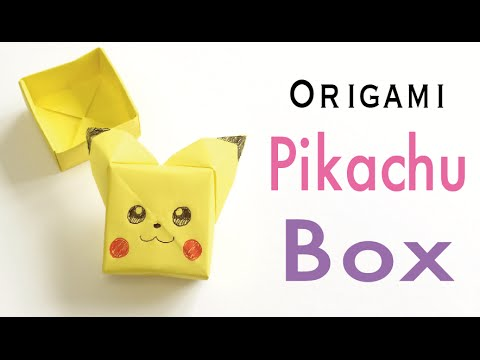 Easy Origami Paper Pokemon Pikachu Box With Lid Tutorial