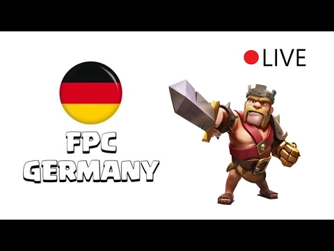 Clan war Live #3 The Germans v Hispania ! (Th10+11)