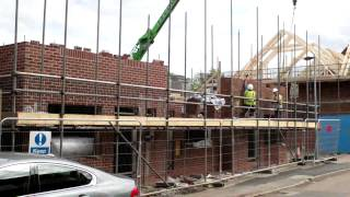 New Homes - Roof Trusses Installed To Plots 1-3 Of Our New Homes In Willenhall - By Wonderful Homes