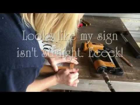 Framing a Wood Sign DIY