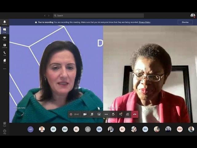Dr Ebun Joseph in conversation with Dr Fionnuala Darby, TU Dublin