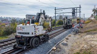 SWISS-FLY BORIS BRON - CFF - Romont - Entretien de la voie par moyens ferroviaires.