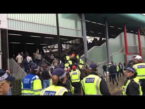 Emirates stadium. Riots. Arsenal vs Tottenham. 18/11/2017