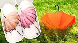 ☔ Зонтик с Каплями Дождя ☔ Осенний Дизайн Ногтей Гель-лаком для Маникюра / Объёмные капли Простой МК