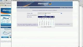 Nuevo sistema Seguros Mercantil: PARTE 1 Afiliación seguros mercantil