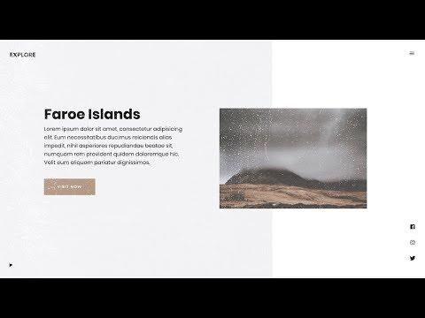 Minimal Travel Website Landing Page Concept | HTML, CSS & JAVASCRIPT (GREENSOCK)