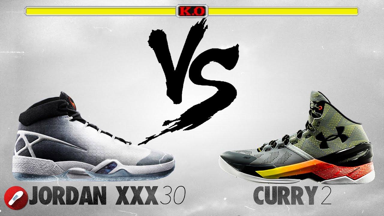 Jordan 30 vs Under Armour Curry 2! - YouTube 188ba8b4aafa