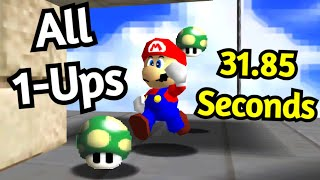 SM64: All 1-Ups in Whomp's Fortress - 31.85 [TAS]