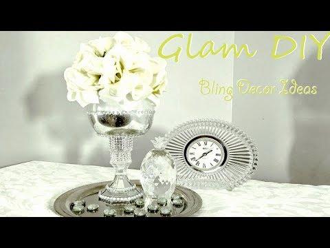 Dollar Tree DIY Glam Bling Mercury Glass Vase Centerpiece Ideas
