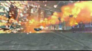 Supersonic Acrobatic Rocket-Powered Battle-Cars Slo-mo montage