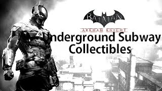 Batman Arkham Knight Subway Under Construction Collectibles All Riddler Trophies & Militia Shields