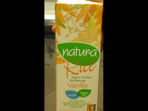 "Natura Organic, Fortified Rice Milk ""Vanilla"" Flavored--Product Review! (dairy-free, vegan)"