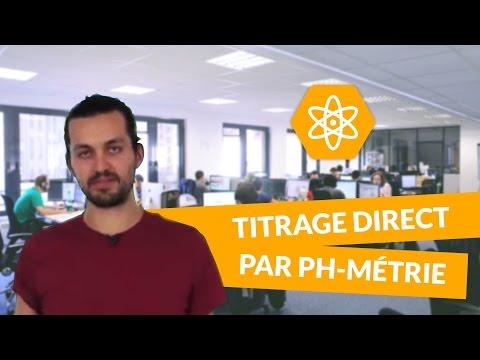 Le titrage direct par ph-métrie - Physique-Chimie - TS - digiSchool