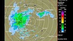Alberta Rain Flooding & Doppler Stations Influencing Storm