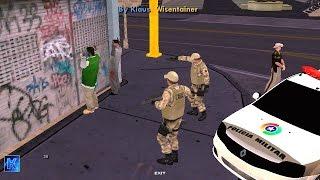 GTA Sa Modificado (Android) - Policia 24 HORAS #2 - Abordagem na Favela