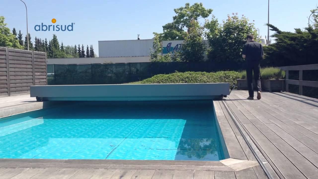 Abrisud lanza el cobertor autom tico para tu piscina youtube for Tensor lona piscina