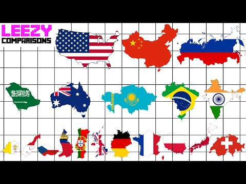 Country SIZE COMPARISON ALL 195 Countrys | LeeZY Comparisons