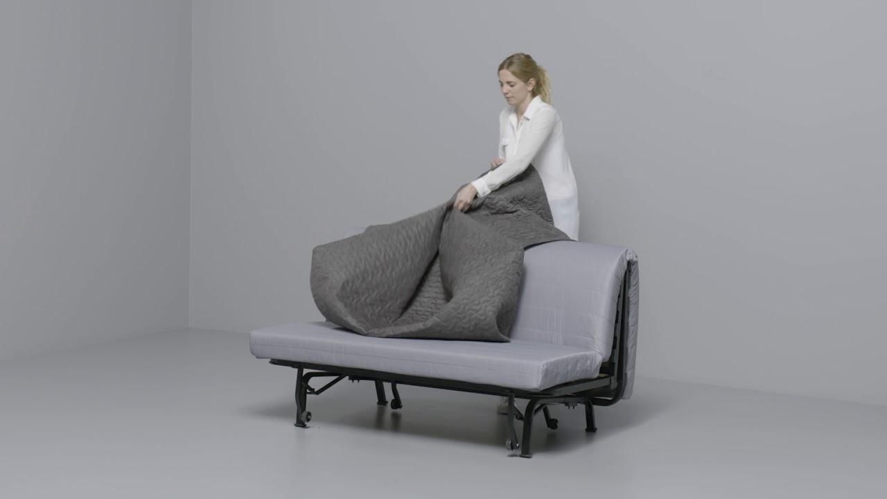 Ikea Beddinge Bedbank.Ikea Lycksele 2 Zitsslaapbank Youtube
