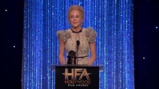 Dev Patel Presents Supporting Actress Award to Nicole Kidman   Hollywood Film Awards 2016