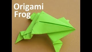 Origami Frog:The Best Ways to Make an Origami Jumping Frog |Origami frog that jumps high and far