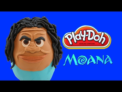 Maui from Moana Giant Play doh egg! Shape shifter, here to men, all