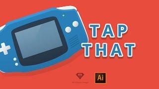 Tap that! Flat Nintendo Gameboy Advance | Adobe Illustrator - speedart #13