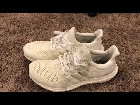 64eeb540d49b1 Adidas Ultra Boost 1.0 Triple White REVIEW - Boostmaster Lin Reps!