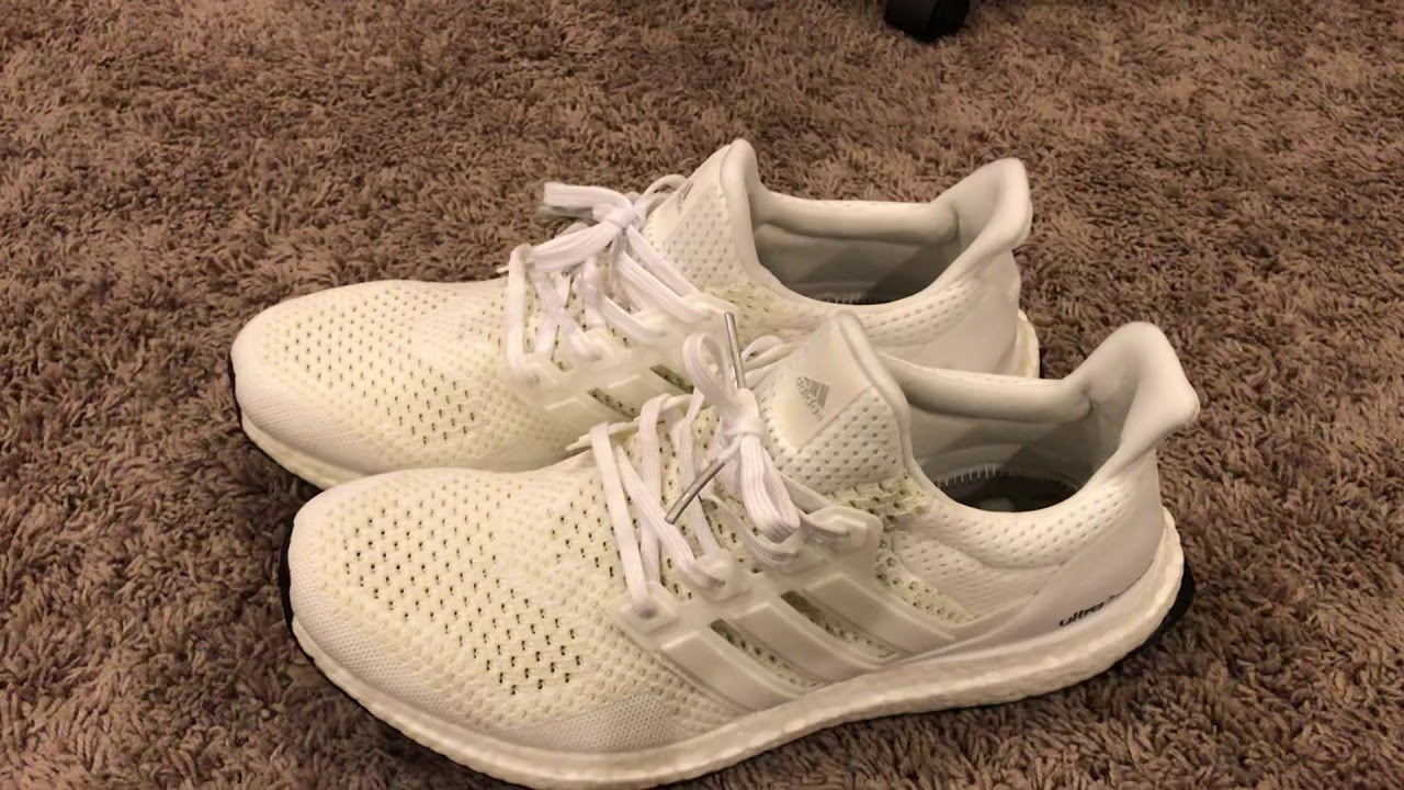 cc545761b Adidas Ultra Boost 1.0 Triple White REVIEW - Boostmaster Lin Reps ...