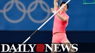 Japanese pole vaulter's penis gets in his way at Olympics