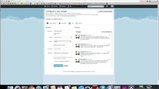 Twitter Widget Tutorial