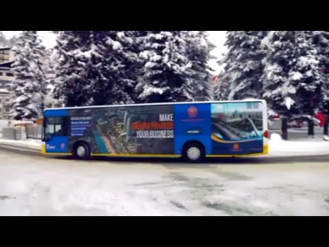 Andhra Pradesh Branding on Bus in Davos- Switzerland