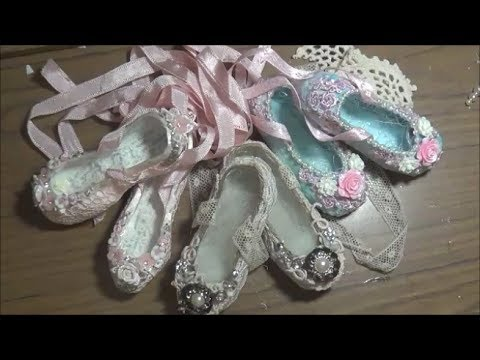Shabby Chic Ballet Slippers + Tutorial