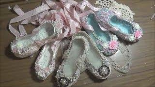 Shabby Chic Ballet Slippers + Tutorial