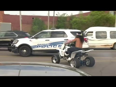 Detroit Police Seize ATVs After Commotion During Rush Hour