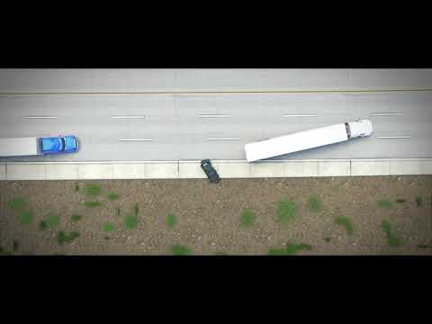 $1.25 Million - Tractor Trailer Strikes Disabled Vehicle - Forensic Animation