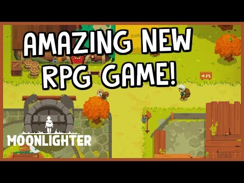 MERCHANT In The Day And HERO At Night! - *NEW 2D RPG GAME!* - Moonlighter| Introduction Gameplay
