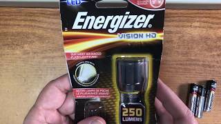 Energizer Vision HD 3 AAA Flashlight Quick Look & Review