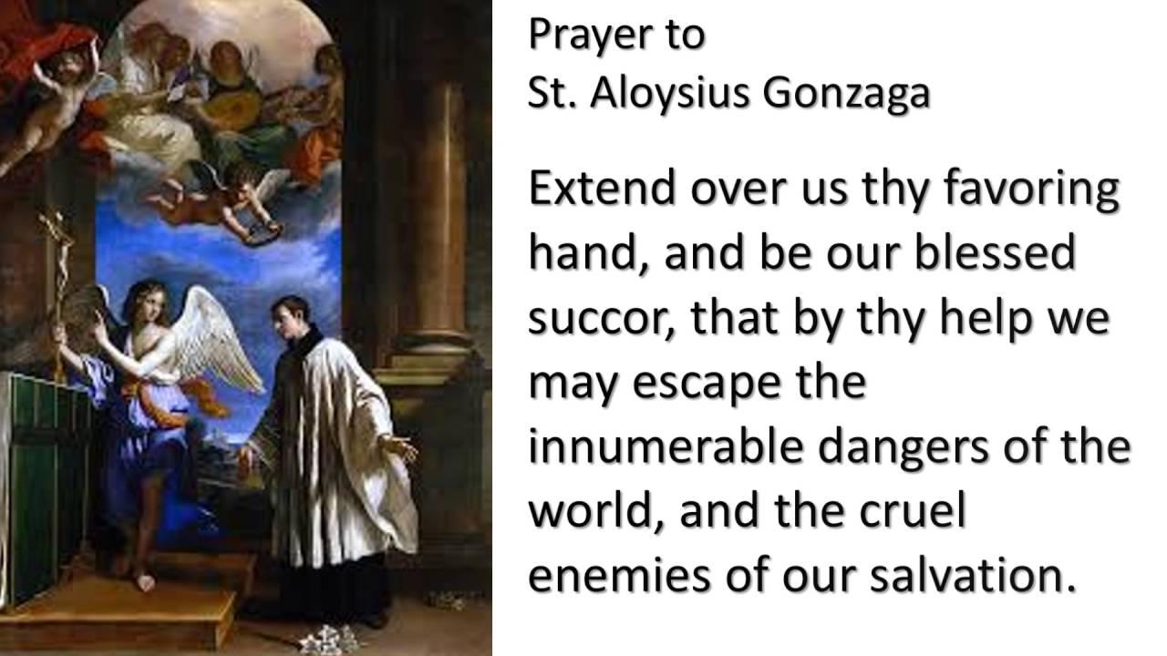 St Aloysius Gonzaga Patron Of The Youth Youtube