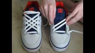 Cool How To Diagonal Lace Your Shoes with No Bow