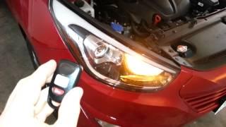 2014 Hyundai Tucson - Testing Key Fob After Changing Battery - Parking Lights Flashing