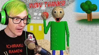 We gave Baldi an apple!? (now we're friends) | Baldi's Basics New Full Game demo