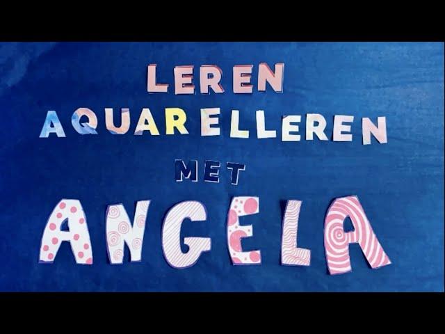 Leren Aquarelleren met Angela van Studio Angelart